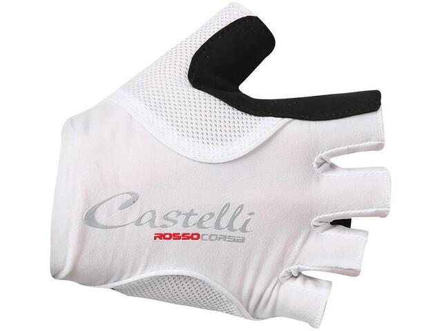 Castelli Rosso Corsa Pave Bike Gloves Women white/black